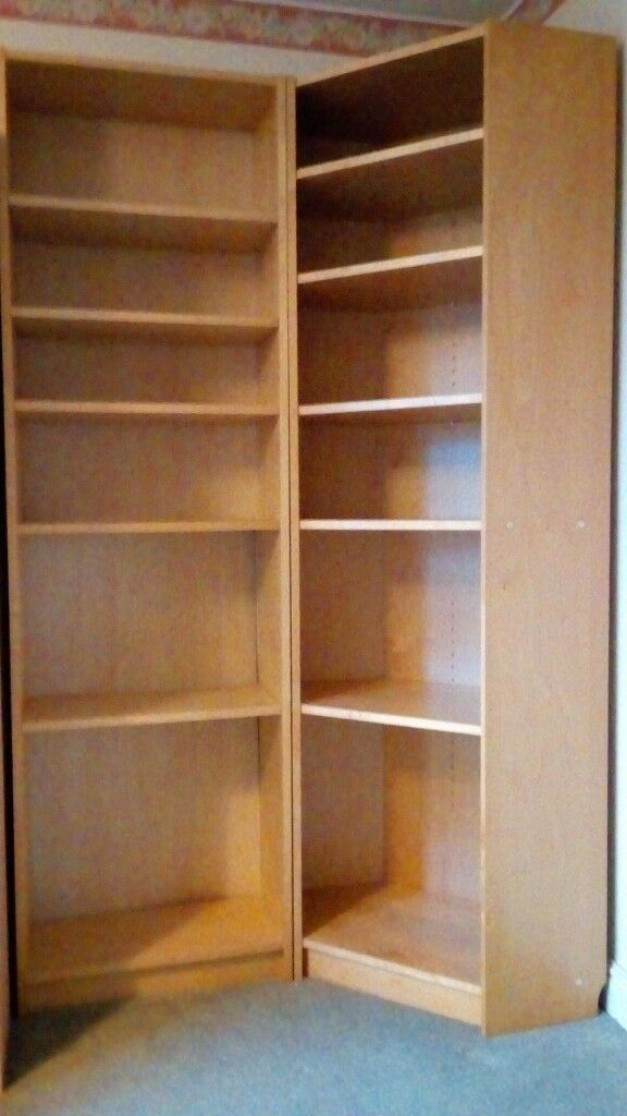 Ikea Tall Corner Bookcase Storage Unit 202 Cms High In Light Wood In Purley London Gumtree