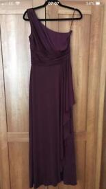 Full length size 10 plum dress (prom, ball, bridesmaid)