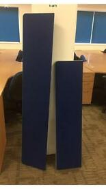 Blue Fabric Desk Dividers