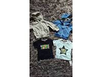 Bundle baby boys 9-12 hoody/jumpers the shirts tops.