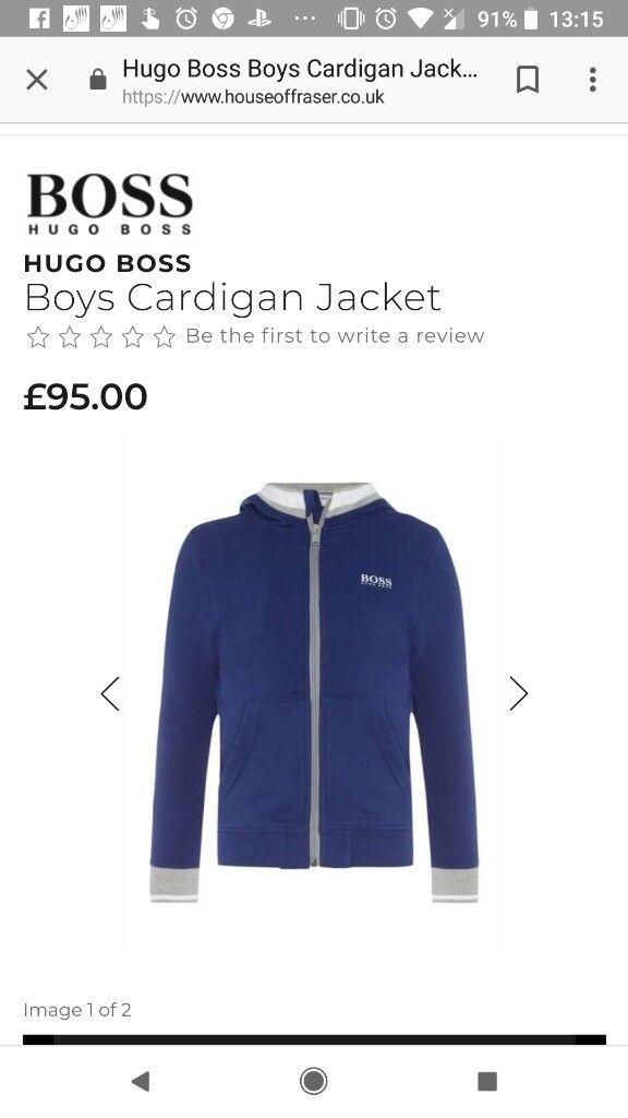 dc558e13e7d6 Boys new Hugo boss tracksuit