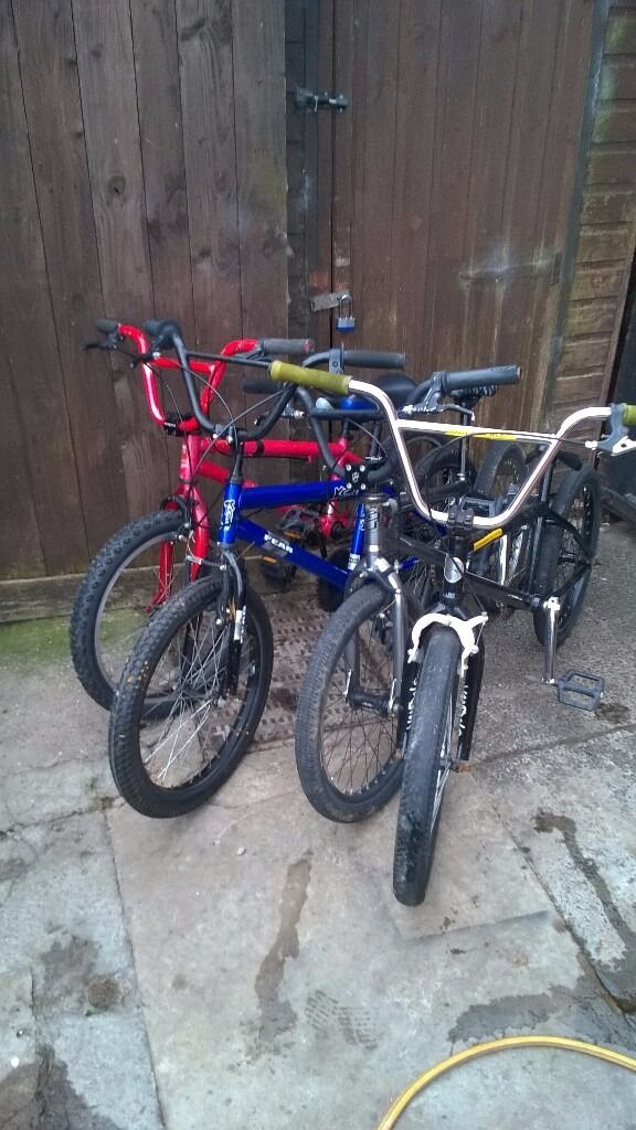 full size bmx bikes with 20 inch wheels gt mongoose vandals kobe see photosin Gateshead, Tyne and WearGumtree - full size bmx bikes with 20 inch wheels all have to go they are all in working order clearing sheds they are cheap to go 60 pounds the lot space needed no offers collection only phone calls or sends a text on 07914511374 or calls only to house phone...