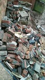 Free engineering bricks rubble hardcore old chimney bricks
