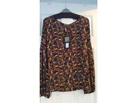 BIBA BNWT pure silk blouse size 18