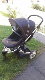 combi stroller buggy + car seat with i-sofix base