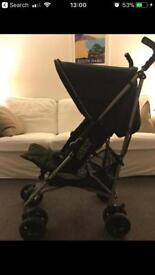 Mamas and Papas Folding Travel Stroller fully flat bed