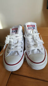 Converse All Star Low White Trainers - UK 4.5