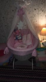 Gorgeous Moses basket for sale