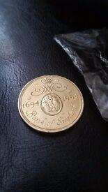 2 pound gold coin 18 ct 15.98 gr