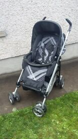 Mamas and Papas Pliko switch parent facing buggy pushchair pram and built in buggy board step