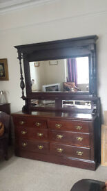 Old mirror backed sideboard