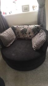 4 seater sofa and swivel cuddle chair