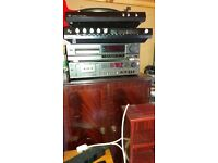 REDUCED Retro stereo system. Record player, amp, cassette, cd, speakers,Cabinet. Technics/Armstrong