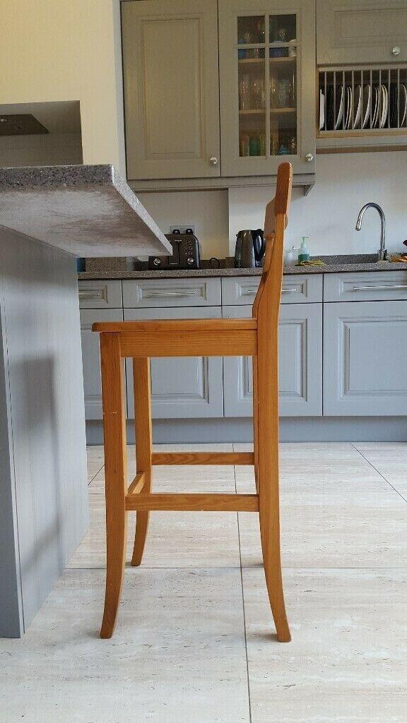 Astonishing Solid Pine Wood Breakfast Bar Stool Chair In Kilburn London Gumtree Evergreenethics Interior Chair Design Evergreenethicsorg