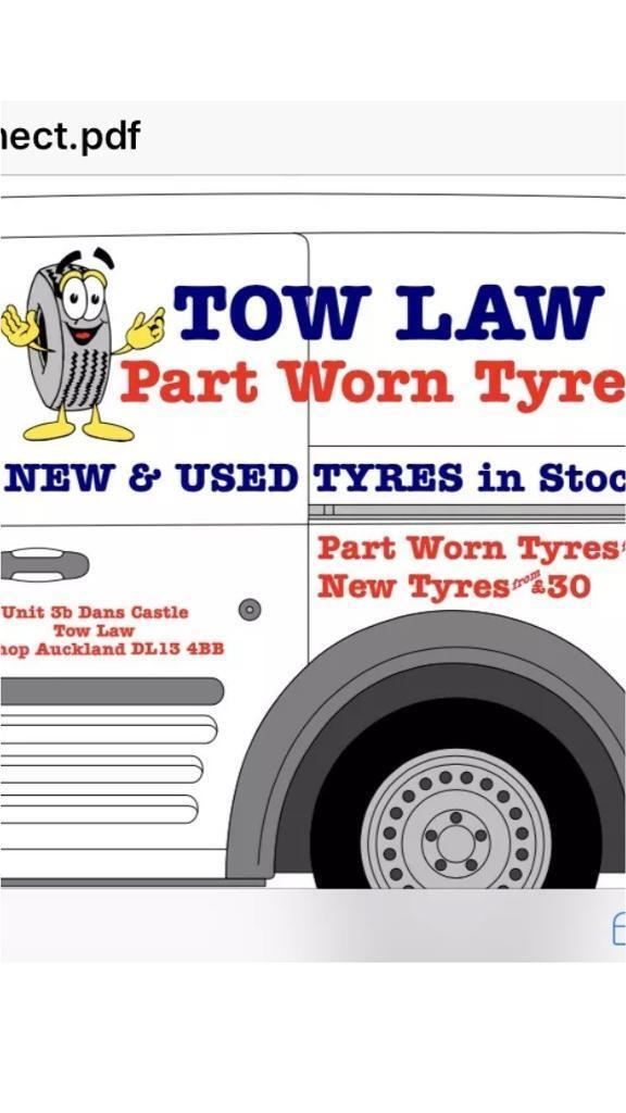 Open 7days a week tow law part worn tyres