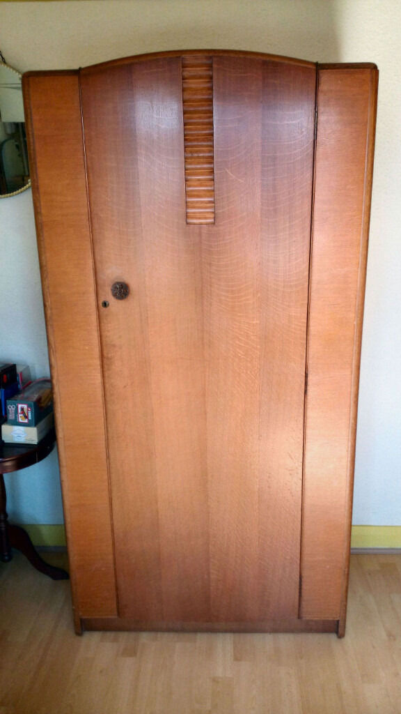 1930s Art Deco Wardrobe AND Dressing Table With Tilt