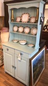 Painted pine Welsh dresser. Top detachable