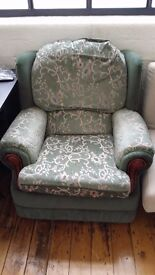Comfy fabric armchair couch in real bargain