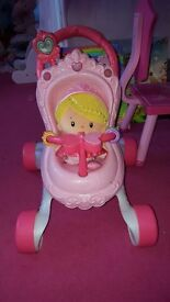 fisherprice baby walker with matching doll