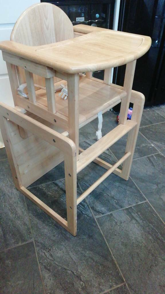 Wooden High Chair Converts To Table Sold Pending Collection