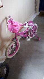 """Girls 14"""" bike. Excellent condition"""