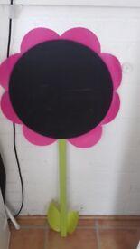 Flower chalk board