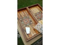 Backgammon Board Game. Authentic. Fully Inlaid. £40