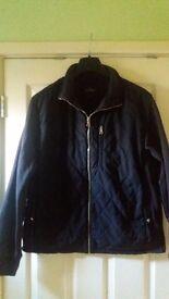 Ladies Womens Dark Blue Jacket Coat size 14 M/L