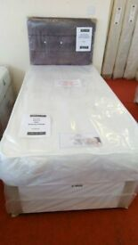New Myer Adams divine single bed with mattress