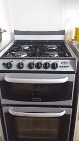 4 hobs gas cooker; Main oven; Top oven with variable Grill