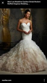 Wedding dress, UK size 12-10, ivory colour