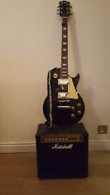 Rockburn Electric Guitar and Marshall Amp