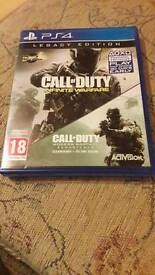 Call of duty infinate warfae ps4 (with cod 4 remastered)