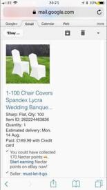 Cream Spandex Chair Covers