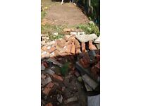 Bricks and rubble and broken slabs