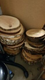 Wooden Slices Slabs x42 Rustic Wedding Celebration Decoration Treated various sizes Centrepiece