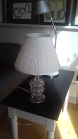 Antique Glass lamp with shade.