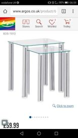 Matrix clear glass tv stand and nest of tables
