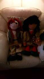 Rosie and Jim Rag Dolls