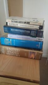 Set of American History books used only for university