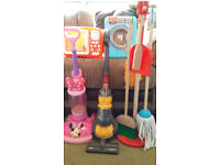Cleaning Bundle -Dyson & Minnie Mouse Vacuum Cleaners, Wooden Brushes, Washing Machine & Microwave