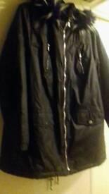 Ladies black parker coat from very brandnew