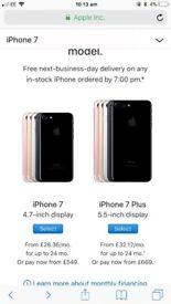 iPhone 7 Plus black & space grey !