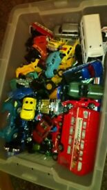 Selection of toys. Mainly toy cars