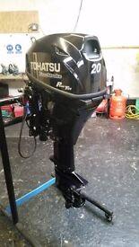 20 hp Tohatsu 4 Stroke Outboard engine 2015