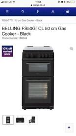 Black belling 50cm gas cooker comes with full manufacturing guarantee