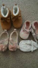 Baby girls shoes size 2 or 6-12months