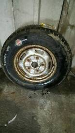 Ford transit wheel with new tyre