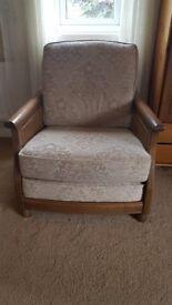 Solid Oak Frame armchair