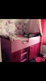 Pink gloss cabin bed